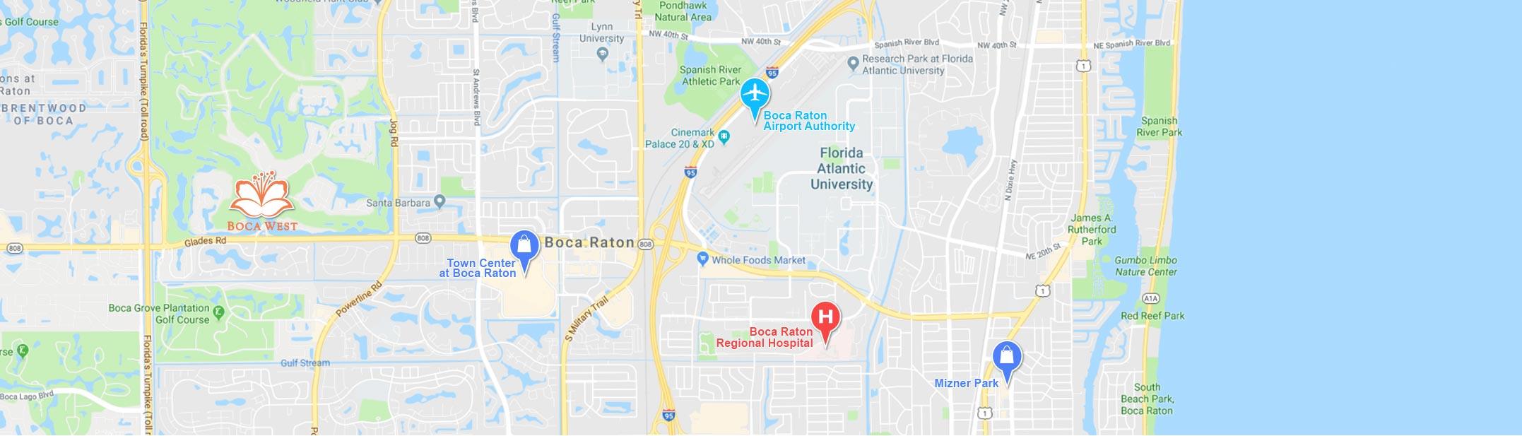Boca West Map